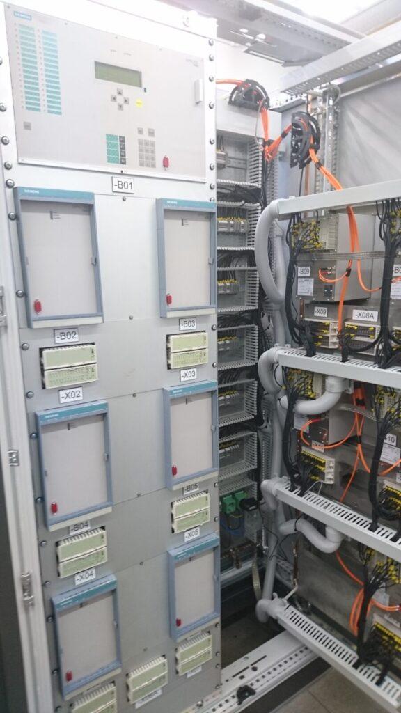 Beveiligingskast 150kV Hoogspanningsstation