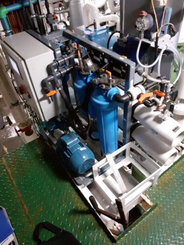 Omgekeerde osmose unit schip