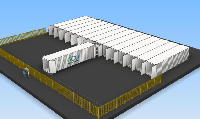 Containerreiniger infrastructuur 3D