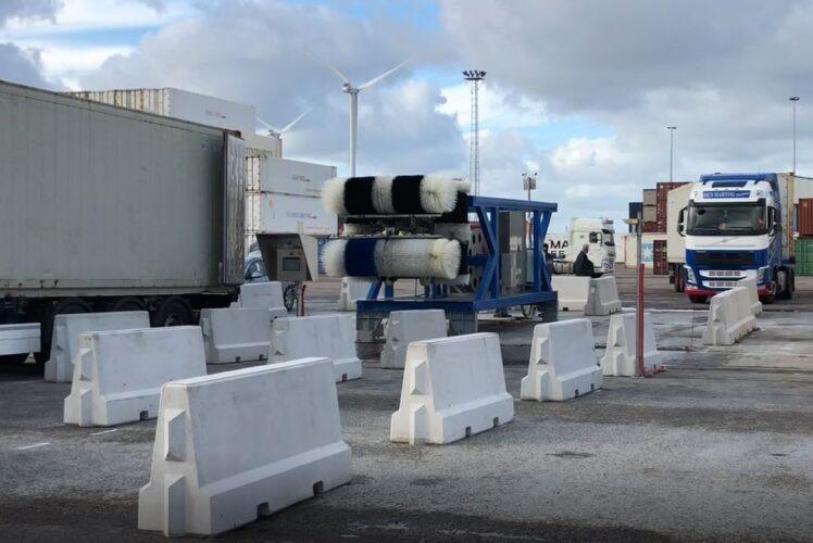 Infrastructuur containerreiniger